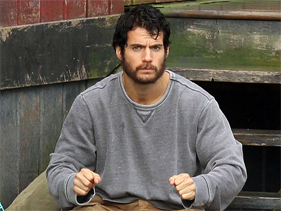 Henry Cavil sporting a beard